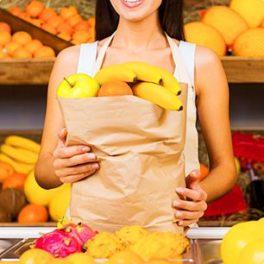 Sachet kraft de fruits